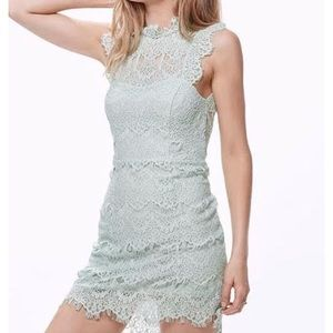 Free people daydream bodycon dress in seafoam